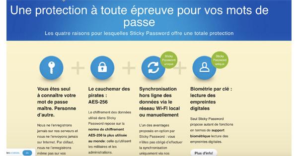 Avis sécurité sticky password