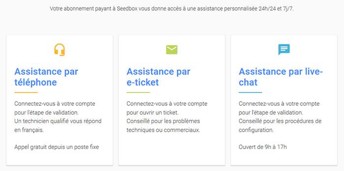 Support client Seedboxfr
