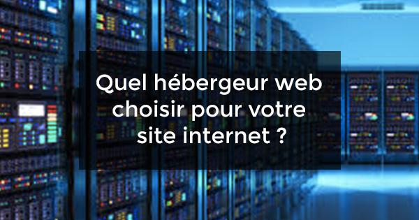 hébergeur web choisir