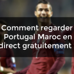 regarder portugal maroc direct