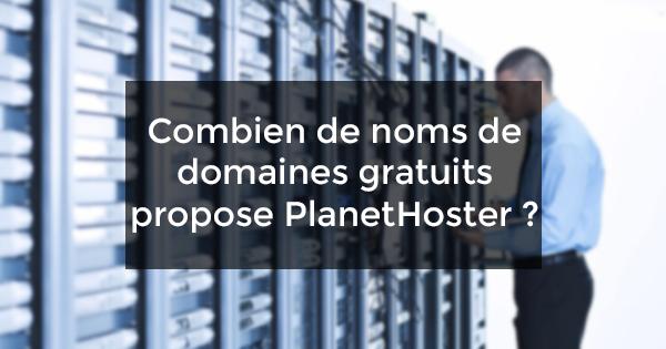 nom de domaines gratuits PlanetHoster