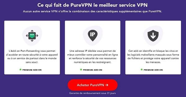 Test complet PureVPN