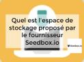 Quel est l'espace de stockage proposé par le fournisseur Seedbox.io