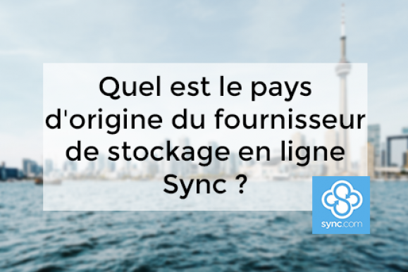 Quel est le pays d'origine du fournisseur de stockage en ligne Sync ?