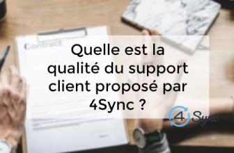 Quelle est la qualité du support client proposé par 4Sync ?